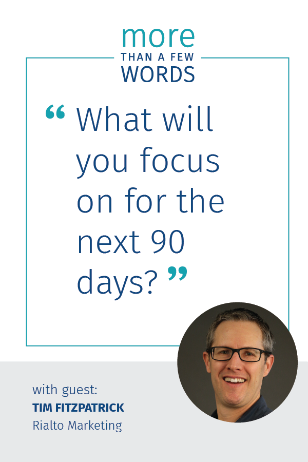 Tim fitzpatrick Build a 90 day Marketing Plan
