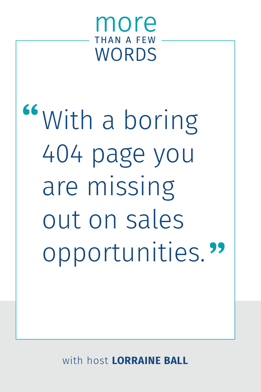 Engage visitors with an interesting 404 page