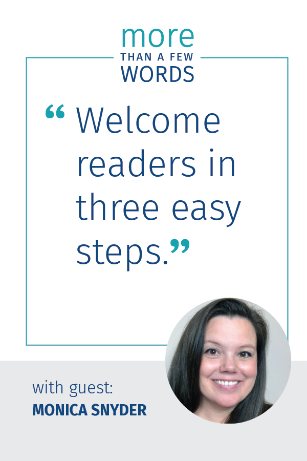 Welcome readers monica snyder