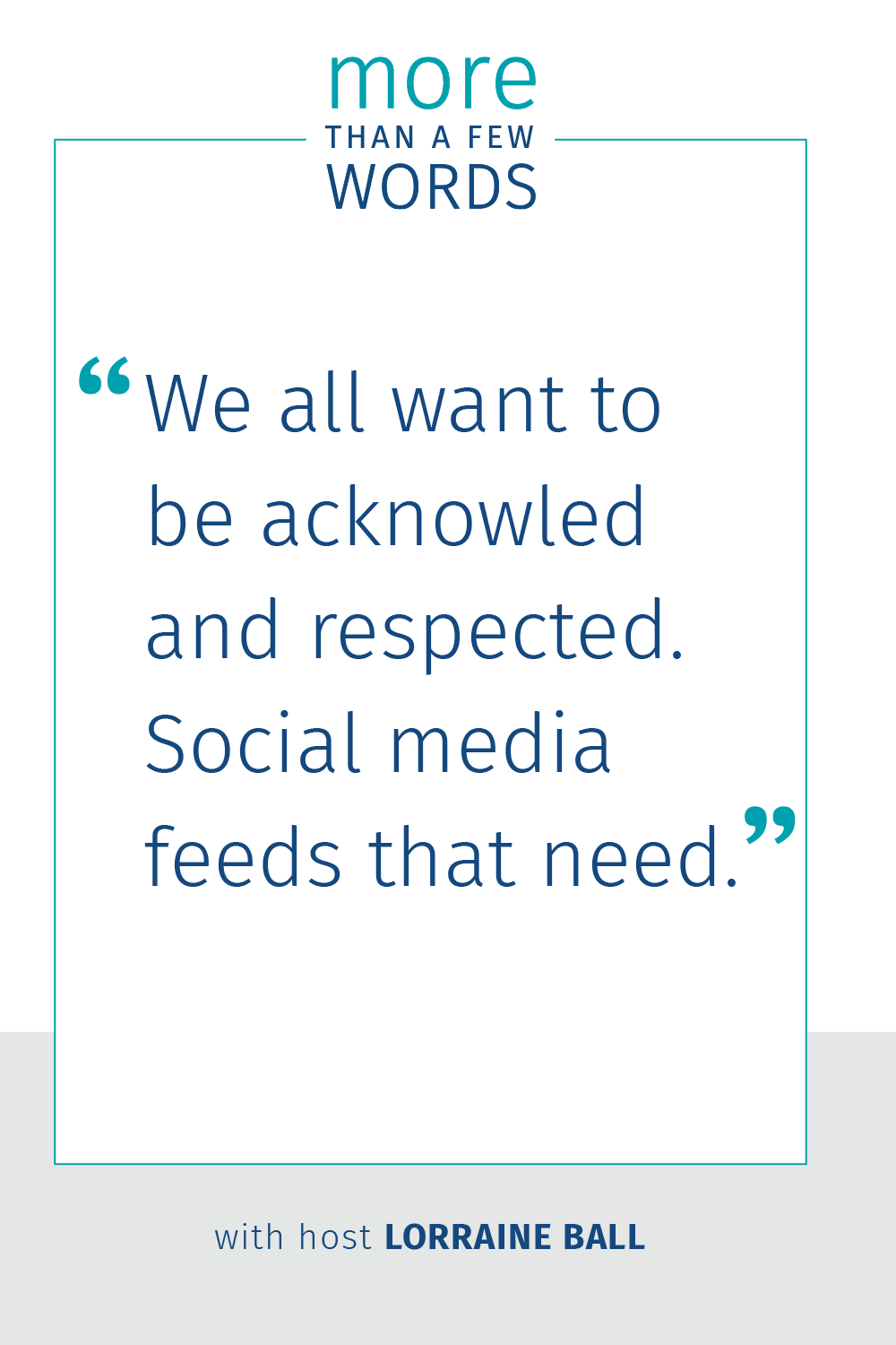 Social Media is about ego