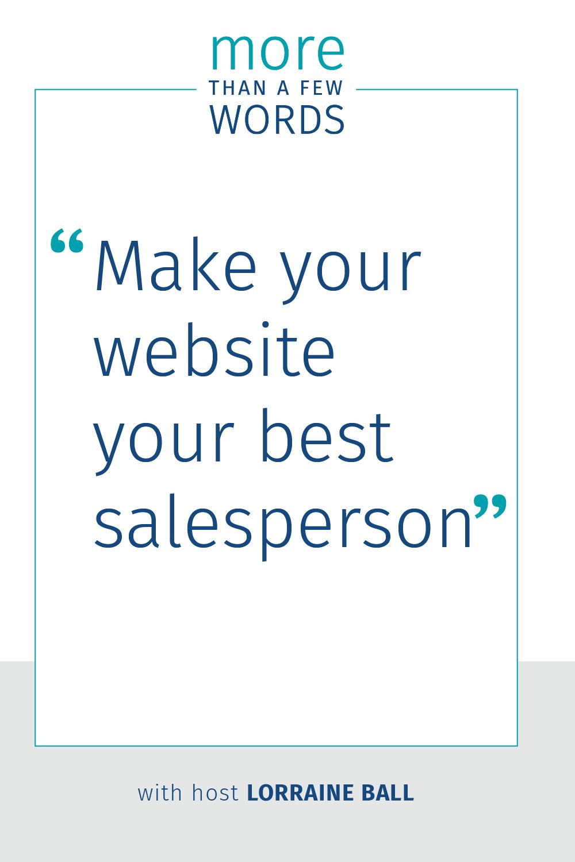 Make your website your best salesperson