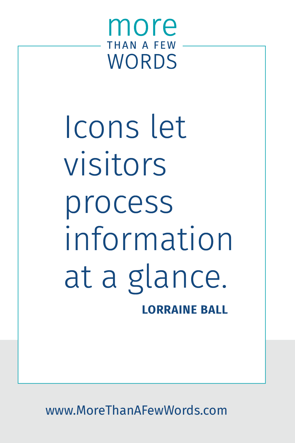 design icons communicate meaning at a glance