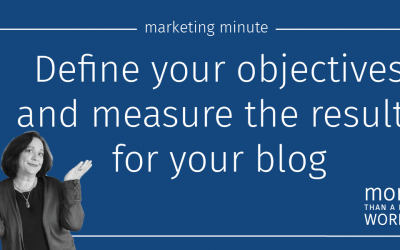 #636 Blog Objectives