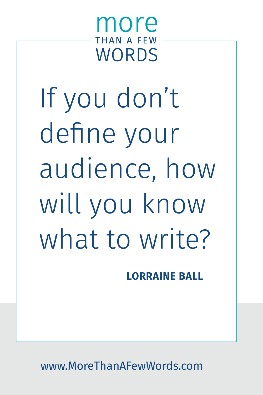 Define your blog audience